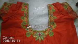 latest simple maggam work blouse designs