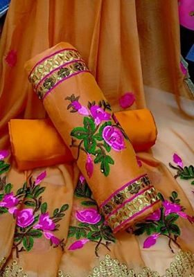 chanderi suits neck designs